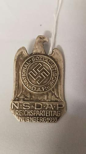Click image for larger version.  Name:NSDAP 1933 Badge Front(1).jpg Views:83 Size:124.0 KB ID:999788