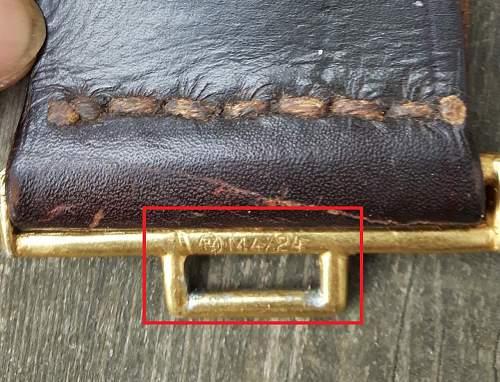 NSDAP political leader's belt and buckle M4/24