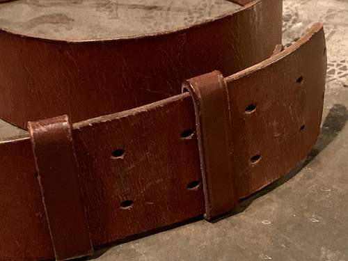 Political Leader's Belt and Buckle