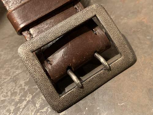 Silver Officer's Buckle & Belt - Marked S