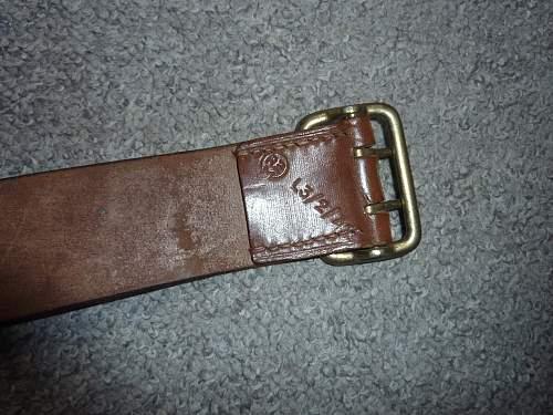 Political leader belt? Fake?