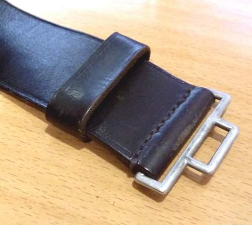 SS officer belt