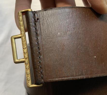 Original NSDAP political leader belt and buckle?