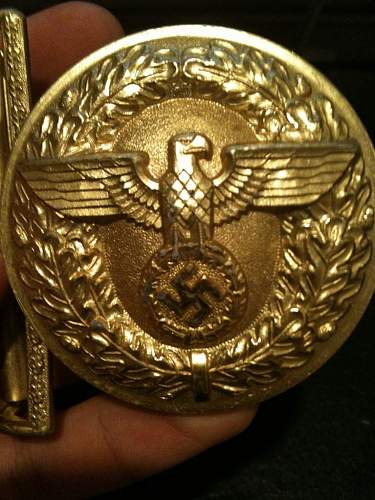 Political Leaders belt buckle: authentic?