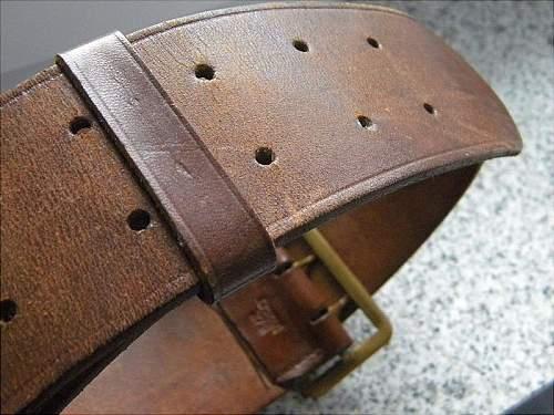 Original Political Leader's belt and buckle?
