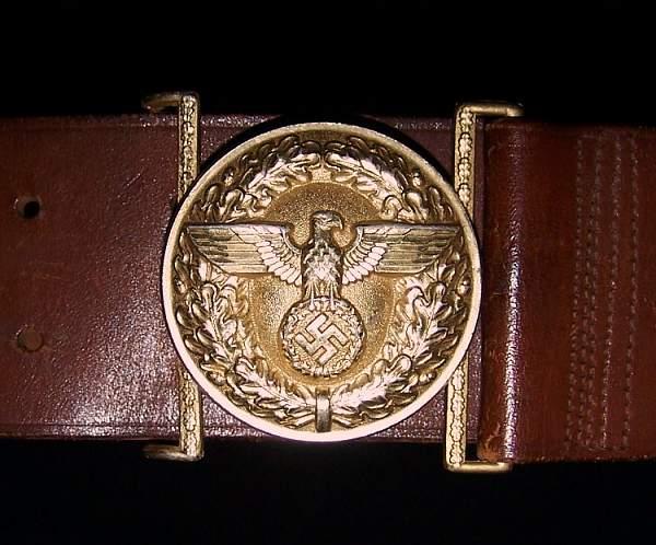 Political leader's belt and buckle set