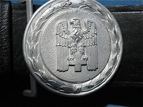 Deutsches Rotes Kreuz - DRK Officers belt and buckle