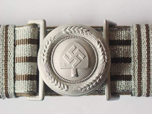 RAD Brocade and Buckle by F W Assmann dated 1937