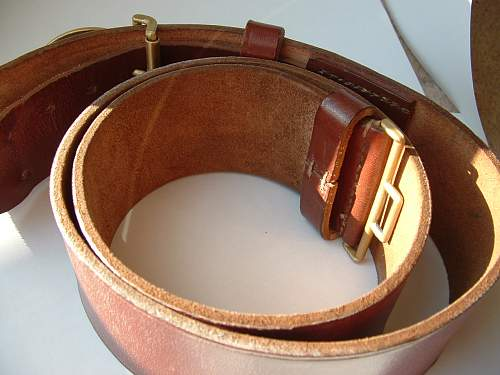 60mm Political Leaders Buckle and Leather belt