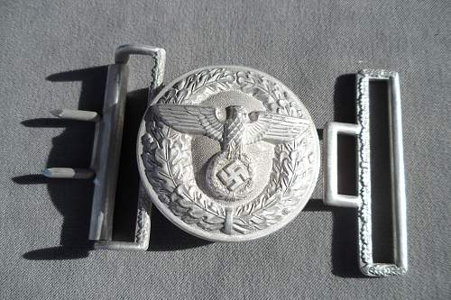 silver Political buckle or just no finish?