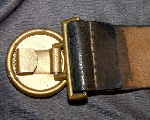 Reischsbahn Officer Belt & Buckle