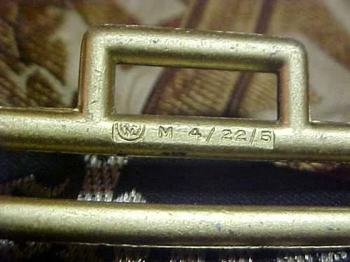 NSDAP belt buckle markings?