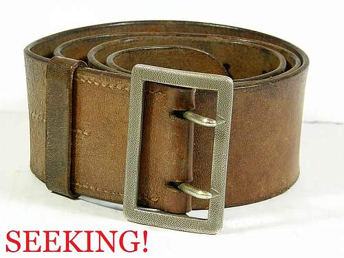 Wehrmacht brown double-claw Officer's belt