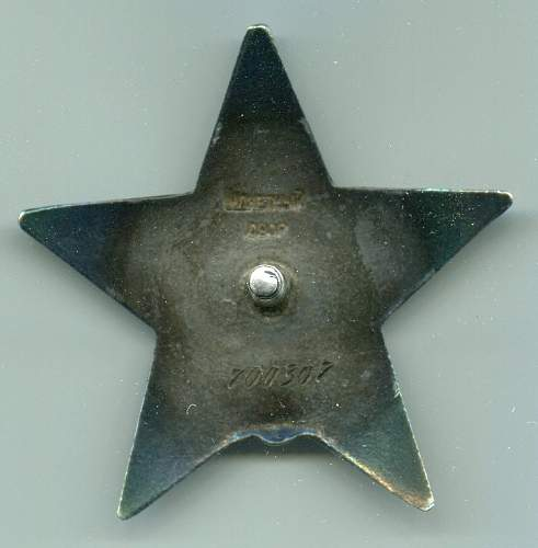 Order of the Red Star, nr. 700307