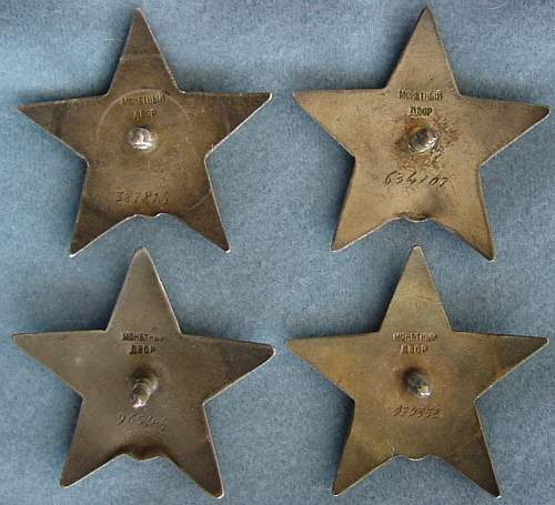 4 Red Stars 6 Digit Numbers