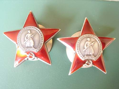 New arrivals..red stars and order of glory