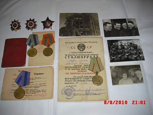Set of the Political Commissar with early Red Star 1940 Finland War + STALINGRAD related