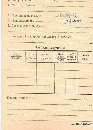 Order of red star #112961 Mukogorenko Stepan Romanovich