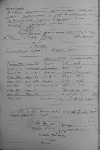 Order of the Red Star, #953786, Deputy Battalion Commander