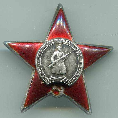 Order of the Red Star, #953786, Deputy Battalion Commander