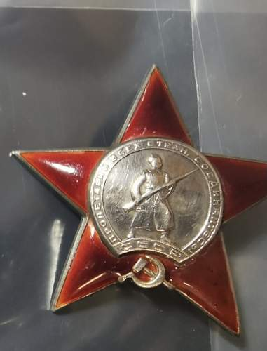 Real or fake Order of the Red Star?