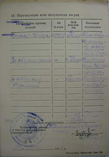 Order of the Red Star, #138432, Kalinin Front