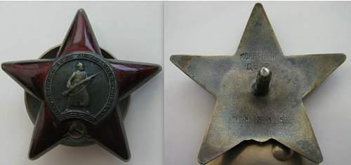 Fake early Monetny Dvor Red Star Order or duplicate