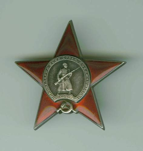 1940 issued Orders of the Red Star