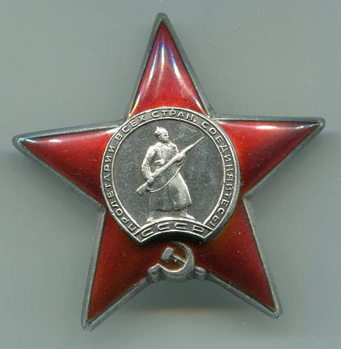 Order of the Red Star, #1803871, to a Nurse