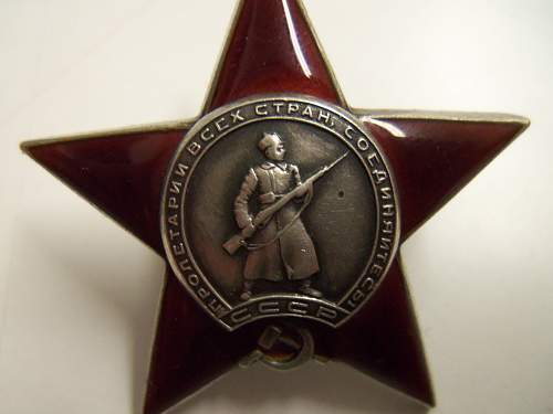Order of the Red Star 133160...Fake?