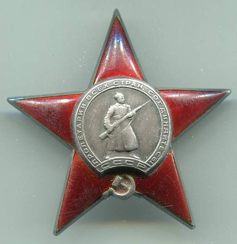 Order of the Red Star, 511589, to a Staff Officer