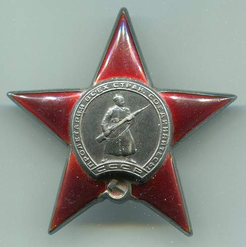Order of the Red Star, 563375, to an Aircraft Mechanic