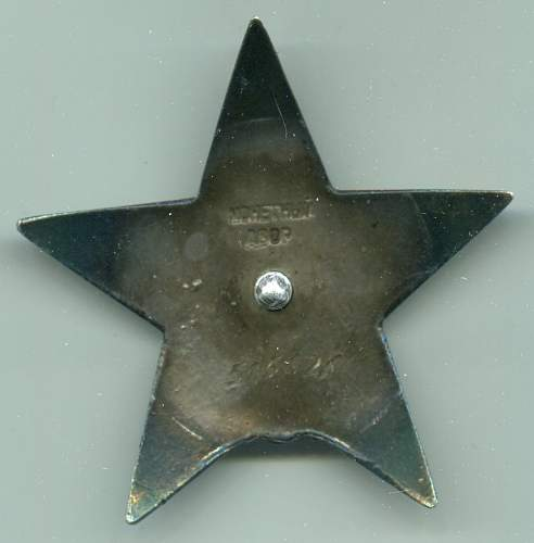 Order of the Red Star, 515626, to a Regiment Liaison Officer