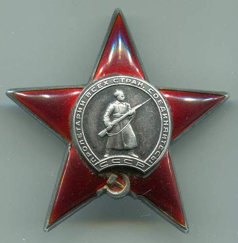 Order of the Red Star, 350297, to a Political Officer