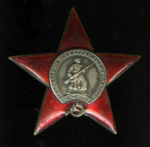 """Interesting Red Star order, first """"fake"""" made in 1944...."""