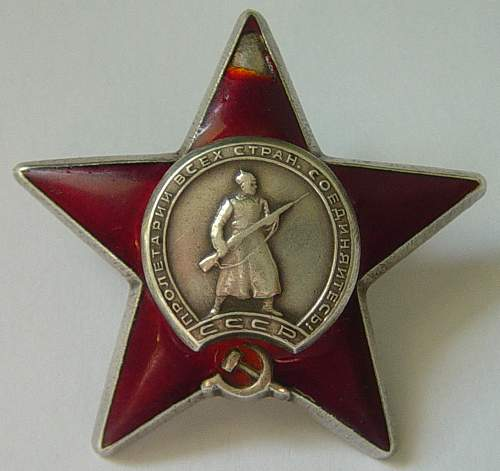 New addition: another Order of the Red Star: 1760066