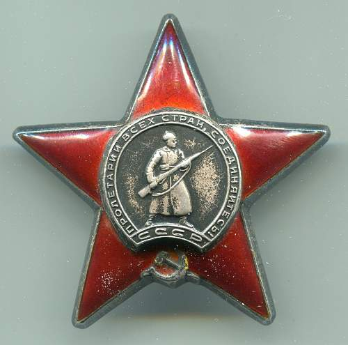 Order of the Red Star, #2733967, Locomotive Machinist