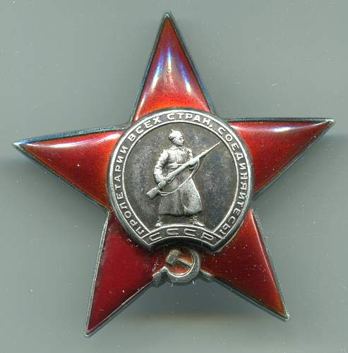 Order of the Red Star, #56040, Medical Officer