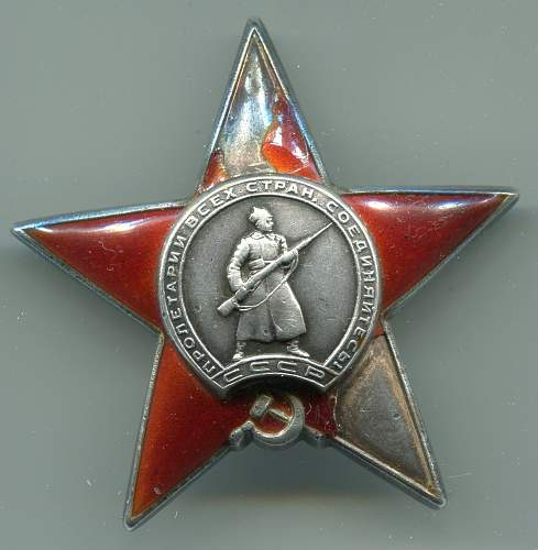 Order of the Red Star, #55155, Kalinin Front