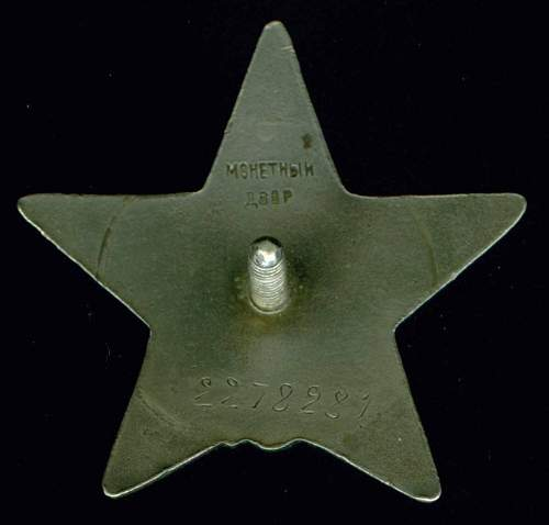 Order of the Red Star, #2278281, NKVD, China