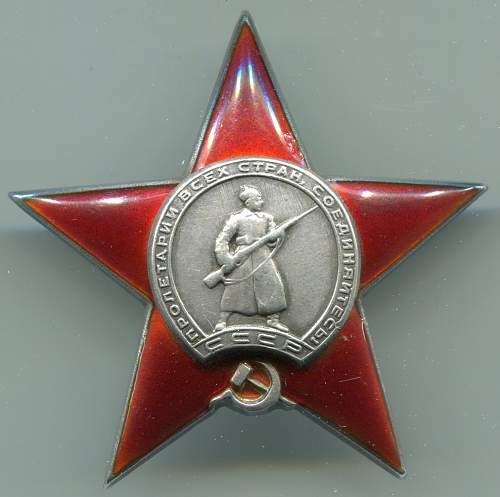 Order of the Red Star, #273565, Tank Commander