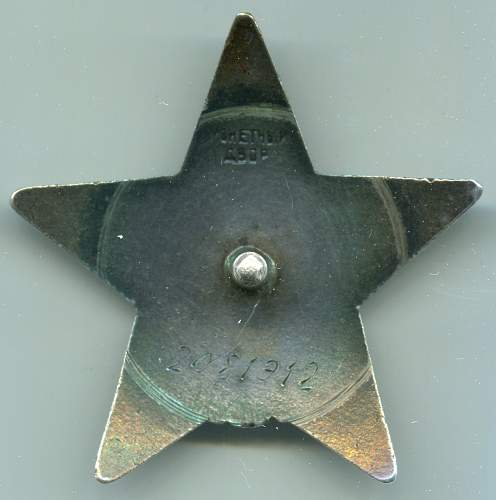 Order of the Red Star, #2081912, Reconnaissance Squad Leader