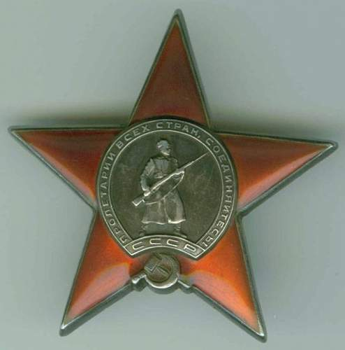 Order of the Red Star, #14570, Finnish War