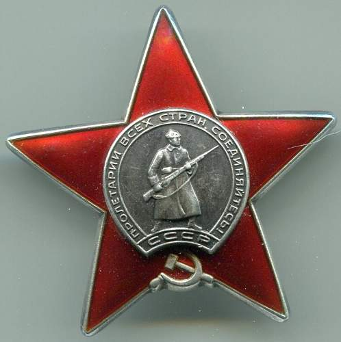 Order of the Red Star, #3632682, post-war for wounds