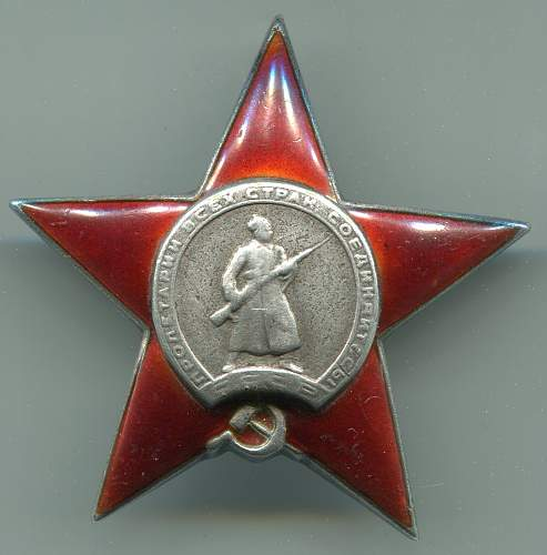 Order of the Red Star, #351416, Adjutant, 1st Baltic Front