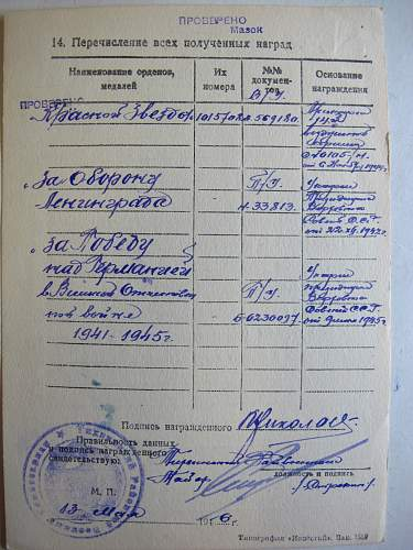 Order of the Red Star, #1015708, Administrative Services