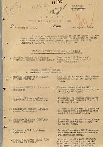 Order of the  Red Star, #302122, 1st Ukrainian Front, Senior Aircraft Technician