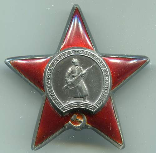 Order of the Red Star,  #2711609, Communications Chief