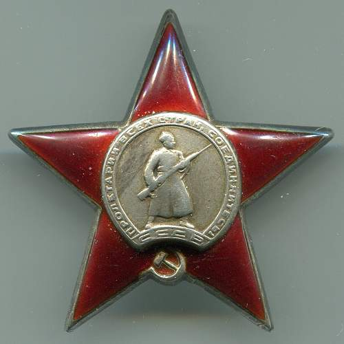 My lowest numbered Order of the Red Star: 681736
