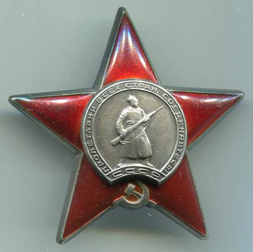 Order of the Red Star, #1040516, Squad Leader